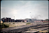 Alamosa yard with engine house, roundhouse, hoist - dual track.<br /> D&amp;RGW  Alamosa, CO