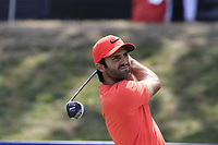 Joel Stalter (FRA) tees off the 18th tee during Saturday's Round 3 of the Porsche European Open 2018 held at Green Eagle Golf Courses, Hamburg Germany. 28th July 2018.<br /> Picture: Eoin Clarke | Golffile<br /> <br /> <br /> All photos usage must carry mandatory copyright credit (&copy; Golffile | Eoin Clarke)