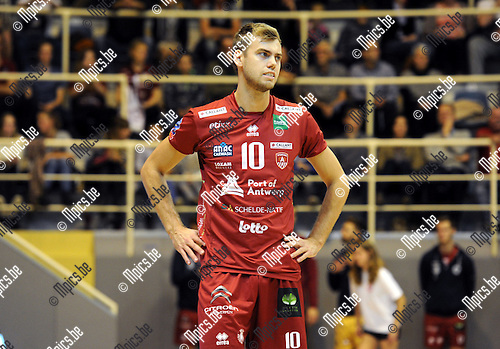 2014-10-29 / Volleybal / seizoen 2014-2015 / Topvolley Antwerpen - Asse-Lennik / Gijs Jorna<br /><br />Foto: mpics.be