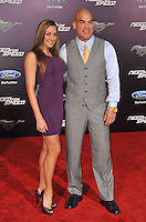 Tito Ortiz &amp; Amber Miller at the U.S. premiere of &quot;Need for Speed&quot; at the TCL Chinese Theatre, Hollywood.<br /> March 6, 2014  Los Angeles, CA<br /> Picture: Paul Smith / Featureflash