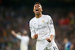 Real Madrid's Carlos Henrique Casemiro celebrates the victory in the Champions League 2015/2016 Quarter-finals 2nd leg match. April 12,2016. (ALTERPHOTOS/Acero)