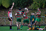 Referee Simon Brown awards Notise Tauafoa's match winning try. Counties Manukau McNamara Cup Premier Club Rugby final between Pukekohe andWaiuku, held at Bayer Growers Stadium, on Saturday July 17th. Waiuku won 25 - 20.