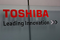 Toshiba's signboard on display inside of its building on September 7, 2015, Tokyo, Japan. Toshiba fell into the red for the first time in five years after announcing corrections to its net balance of more than 155 billion yen ($1.3 billion) in its delayed earnings report. The corrections are a result of padding earnings over a seven year period of accounting irregularities. (Photo by Rodrigo Reyes Marin/AFLO)