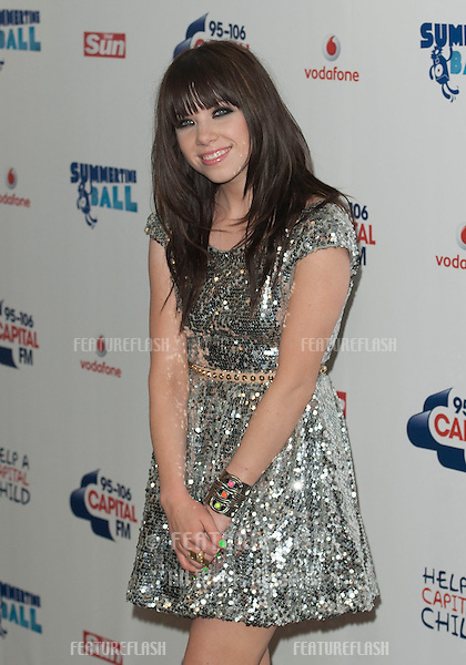 Carly Rae Jepsom at the Capital Radio Summertime Ball, Wembley Stadium, London. 09/06/2012 Picture by: Simon Burchell / Featureflash.