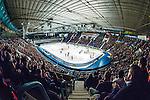 Stockholm 2014-03-21 Ishockey Kvalserien AIK - R&ouml;gle BK :  <br /> Vy fr&aring;n l&auml;ktaren i Hovet under matchen<br /> (Foto: Kenta J&ouml;nsson) Nyckelord:  inomhus interi&ouml;r interior supporter fans publik supporters
