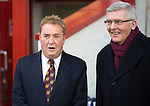 Motherwell v St Johnstone...31.01.15    SPFL<br /> Former Motherwell Chairman John Boyle and new Chairman Brian McCafferty<br /> Picture by Graeme Hart.<br /> Copyright Perthshire Picture Agency<br /> Tel: 01738 623350  Mobile: 07990 594431