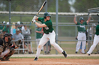 Babson Beavers first baseman Sean Burychka (36) during a game against the Edgewood Eagles on March 18, 2019 at Lee County Player Development Complex in Fort Myers, Florida.  Babson defeated Edgewood 23-7.  (Mike Janes/Four Seam Images)