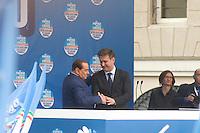 COMIZIO SILVIO BERLUSCONI NELLA FOTO SILVIO BERLUSCONI CON IL SINDACO DI BRESCIA ADRIANO PAROLI DURANTE IL COMIZIO POLITICA BRESCIA 11/05/2013 FOTO MATTEO BIATTA<br /> <br /> MEETING WITH SILVIO BERLUSCONI IN THE PICTURE SILVIO BERLUSCON WITH THE MAYOR OF BRESCIA ADRIANO PAROLI DURING THE MEETING POLITIC BRESCIA 11/05/2013 PHOTO BY MATTEO BIATTA