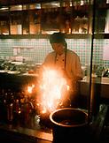 MALAYSIA, Kuala Lumpur, man preparing food in My Thai restaurant