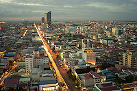 August 9, 2014 - Phnom Penh. Aerial view of the center of Phnom Penh. © Thomas Cristofoletti / Ruom
