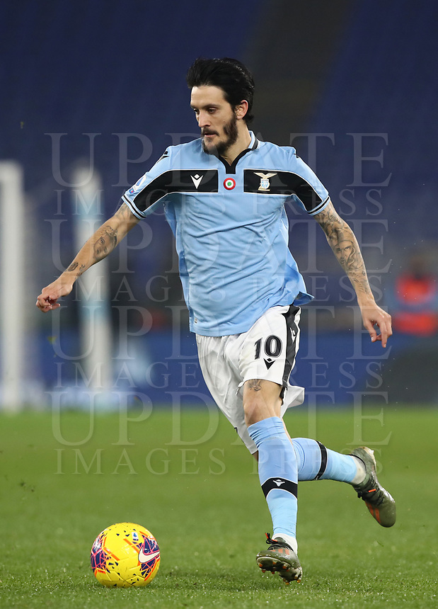 Football, Serie A: S.S. Lazio - Napoli, Olympic stadium, Rome, January 11, 2020.<br /> Lazio's Luis Alberto Romero in action during the Italian Serie A football match between S.S. Lazio and Napoli at Rome's Olympic stadium, Rome , on January 11, 2020.<br /> UPDATE IMAGES PRESS/Isabella Bonotto