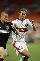 Joshua Gros, left, Kelly Gray, right, Chicago vs DC United at RFK Stadium in Washington, DC.