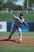 Salt River Rafters starting pitcher Ryan Castellani (38), of the Colorado Rockies organization, delivers a pitch during an Arizona Fall League game against the Surprise Saguaros on October 9, 2018 at Surprise Stadium in Surprise, Arizona. The Rafters defeated the Saguaros 10-8. (Zachary Lucy/Four Seam Images)