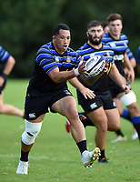 Anthony Perenise of Bath Rugby receives the ball. Bath Rugby pre-season training on August 14, 2018 at Farleigh House in Bath, England. Photo by: Patrick Khachfe / Onside Images