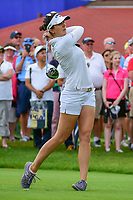 Sandra Gal (DEU) watches her tee shot on 10 during Friday's round 2 of the 2017 KPMG Women's PGA Championship, at Olympia Fields Country Club, Olympia Fields, Illinois. 6/30/2017.<br /> Picture: Golffile | Ken Murray<br /> <br /> <br /> All photo usage must carry mandatory copyright credit (&copy; Golffile | Ken Murray)