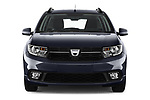 Car photography straight front view of a 2017 Dacia Logan-MCV Laureate 5 Door Wagon Front View