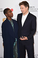 Michaela Coel and Andrew Buchan<br /> at the announcement of the nominations for the BAFTA TV Awards 2017, London.<br /> <br /> <br /> &copy;Ash Knotek  D3246  11/04/2017