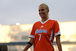 24 August 2012: Florida's Kathryn Williamson. The University of North Carolina Tar Heels played the University of Florida Gators to a 0-0 overtime tie at Fetzer Field in Chapel Hill, North Carolina in a 2012 NCAA Division I Women's Soccer game.