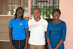 Three administrative staff members at the Loreto Girls Secondary School outside Rumbek, South Sudan. The school is run by the Institute for the Blessed Virgin Mary--the Loreto Sisters--of Ireland.