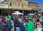 A photograph taken during the 28th annual Rocky Mountain Oyster Fry and St. Patrick's Day Parade in Virginia City, Nevada on Saturday March 16, 2019.