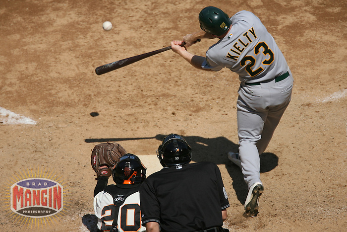 Bobby Kielty. Baseball: Oakland Athletics vs San Francisco Giants at AT&T Park in San Francisco, CA on June 24, 2006. Photo by Brad Mangin