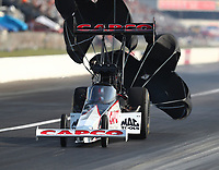 Sep 3, 2017; Clermont, IN, USA; NHRA top fuel driver Steve Torrence during qualifying for the US Nationals at Lucas Oil Raceway. Mandatory Credit: Mark J. Rebilas-USA TODAY Sports