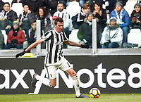 Calcio, Serie A: Juventus - Sassuolo, Torino, Allianz Stadium, 4 Febbraio 2018. <br /> Juventus' Mario Mandzukic in action during the Italian Serie A football match between Juventus and Sassuolo at Torino's Allianz stadium, February 4, 2018.<br /> UPDATE IMAGES PRESS/Isabella Bonotto