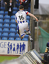 24/10/2009  Copyright  Pic : James Stewart.sct_jspa10_kilmarnock_st_johnstone  . :: KEVIN KYLE LEAVES THE FIELD OF PLAY AS HE CELEBRATES SCORING KILMARNOCK'S FIRST :: .James Stewart Photography 19 Carronlea Drive, Falkirk. FK2 8DN      Vat Reg No. 607 6932 25.Telephone      : +44 (0)1324 570291 .Mobile              : +44 (0)7721 416997.E-mail  :  jim@jspa.co.uk.If you require further information then contact Jim Stewart on any of the numbers above.........