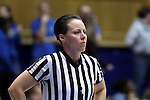 10 February 2017: Referee Gina Cross. The Duke University Blue Devils hosted the Syracuse University Orange at Cameron Indoor Stadium in Durham, North Carolina in a 2016-17 Division I Women's Basketball game. Duke won the game 72-55.