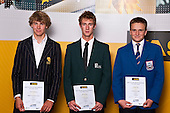 Boys Yachting finalists Finn Drummond, Ben Mackay & George Lane. ASB College Sport Auckland Secondary School Young Sports Person of the Year Awards held at Eden Park on Thursday 12th of September 2009.