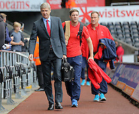 Arsenal manager Arsene Wenger arrives prior to the Barclays Premier League match between Swansea City and Arsenal at the Liberty Stadium, Swansea on October 31st 2015