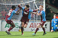 Miguel &Aacute;ngel Llera of Scunthorpe U makes it 2:1 <br /> - Scunthorpe United vs Crewe Alexandra - Sky Bet League One Football at Glanford Park, Scunthorpe, Lincolnshire - 13/12/14 - MANDATORY CREDIT: Mark Hodsman/TGSPHOTO - Self billing applies where appropriate - contact@tgsphoto.co.uk - NO UNPAID USE