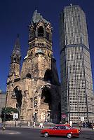 church, Berlin, Germany, Europe, Kaiser-Wilhelm-Gedachtnis-Kirche in Breitscheidplatz.
