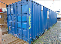 BNPS.co.uk (01202 558833)<br /> Pic: PhilYeomans/BNPS<br /> <br /> Ray Ives Locker<br /> <br /> Ray's museum is now homed in two shipping containers.<br /> <br /> Old man of the sea Ray Ives has opened his very own Davy Jones' locker of hundreds of nautical treasures he has salvaged from the seabed.<br /> <br /> Ray(77) has spent 40 years amassing a huge trove of historical artefacts that he has found during thousands of deep sea dives off the British coast.<br /> <br /> Ray's watery Aladdins cave includes canon balls, muskets, swords and even the bell from an ocean liner sunk by a German U-boat in the First World War.<br /> <br /> For years Ray had stuffed his collection into a tiny shed in the back garden of his home in Plymouth, Devon.<br /> <br /> But now the fascinating archive has now gone on display to the public in a ramshackle museum made from shipping containers.