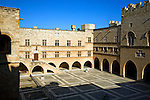 Courtyard, Palace of the Grand Masters, Rhodes, town, Rhodes, Greece