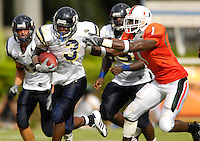 Florida International University Golden Panthers (0-2, 0-0 SBC)  versus the University of Miami Hurricanes (1-1, 0-0 ACC) at the Orange Bowl, Miami, Florida on Saturday, September 15, 2007.  The Hurricanes defeated the Golden Panthers, 23-9...Junior running back A'mod Ned (3) (Miami, Fla.)