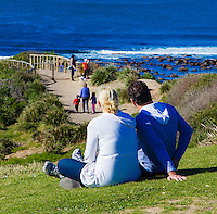Johanna Griggs with Husband Todd Huggins at Long Reef Point