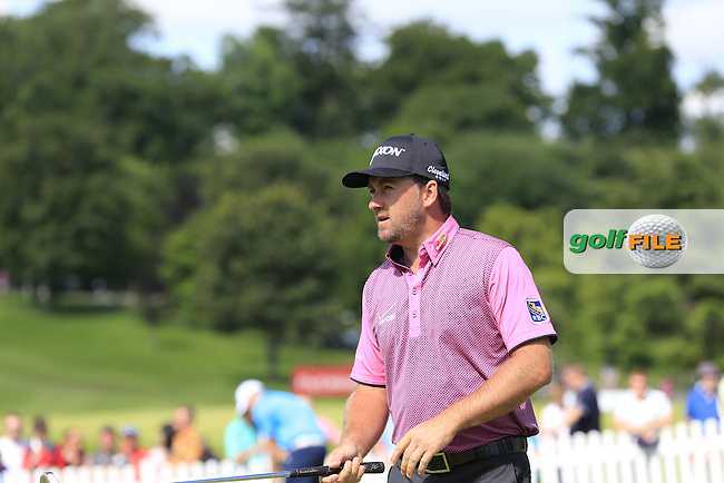 Graeme McDowell (NIR) on the practice green before starting during Sunday's Final Round of the 2014 Irish Open held at Fota Island Resort, Cork, Ireland. 22nd June 2014.<br /> Picture: Eoin Clarke www.golffile.ie