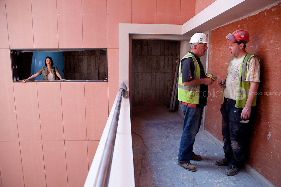 28/7/2011. Danielle Ryan, is pictured onsite at the building of the National Academy of Dramatic Art - The Lir , Grand Canal, Dublin, Ireland. Picture James Horan/Collins Photos