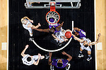 24 MAR 2012:  The University of Montevallo and Western Washington University players battle for a rebound during the Division II Men's Basketball Championship held at the Bank of Kentucky Center in Highland Heights, KY.  Western Washington defeated Montevallo 72-65 for the national title.  Joe Robbins/NCAA Photos