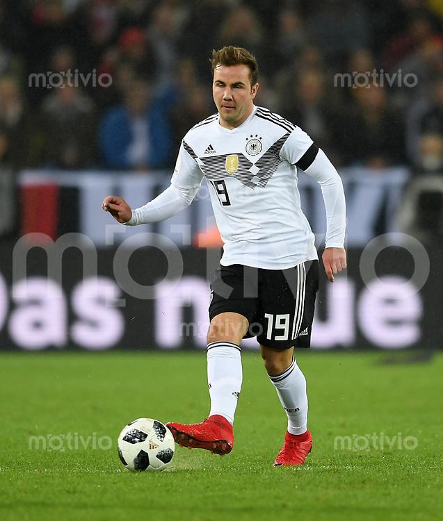 FUSSBALL  INTERNATIONAL TESTSPIEL  IN KOELN   Deutschland - Frankreich        14.11.2017 Mario Goetze  (Deutschland)