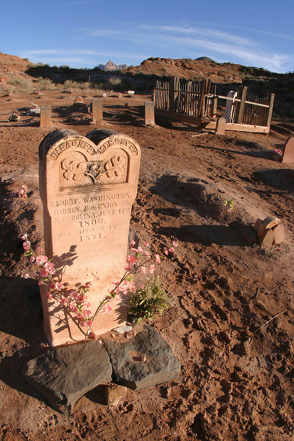 Grave, Grafton Cemetery (ghost town), Rockville, Washington County, UT