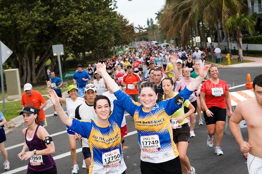 Miami, Florida January,31,2010: ING Miami Marathon 2010