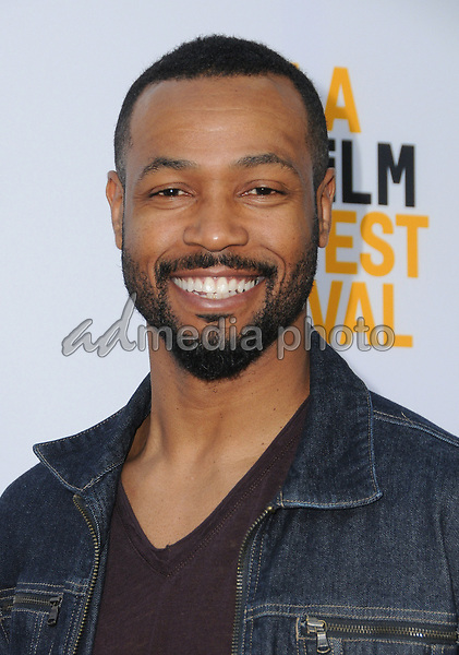 "16 June 2017 - Hollywood, California - Isaiah Mustafa. LA Film Festival screening of ""Brigsby Bear"" held at ArcLight Hollywood in Hollywood. Photo Credit: Birdie Thompson/AdMedia"