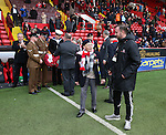 War veterans prepare to lead the remembrance commemoration during the Emirates FA Cup Round One match at Bramall Lane Stadium, Sheffield. Picture date: November 6th, 2016. Pic Simon Bellis/Sportimage