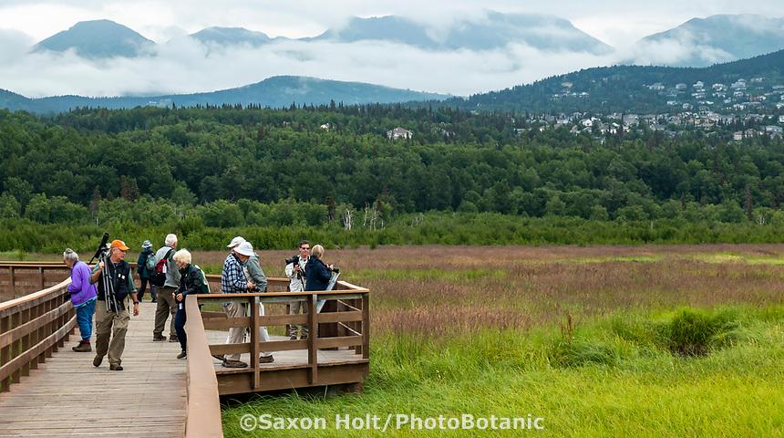 Potter's Marsh, BIrd habitat overlook, Alaska; Pacific Horticulture Society tour