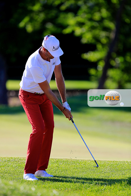 Sebastian Heisele (GER) during the second round of the Lyoness Open powered by Organic+ played at Diamond Country Club, Atzenbrugg, Austria. 8-11 June 2017.<br /> 09/06/2017.<br /> Picture: Golffile | Phil Inglis<br /> <br /> <br /> All photo usage must carry mandatory copyright credit (&copy; Golffile | Phil Inglis)