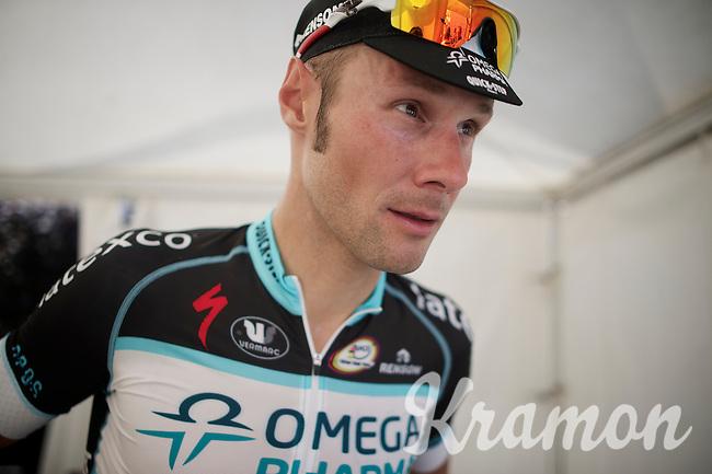race winner Tom Boonen (BEL/OPQS) ready to take the podium<br /> <br /> Heistse Pijl 2014