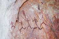 Ancient cave paintings, Zimbabwe.