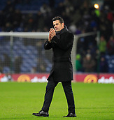9th December 2017, Turf Moor, Burnley, England; EPL Premier League football, Burnley versus Watford; Watford manager Marco Silva applauds the fans at the end of the game